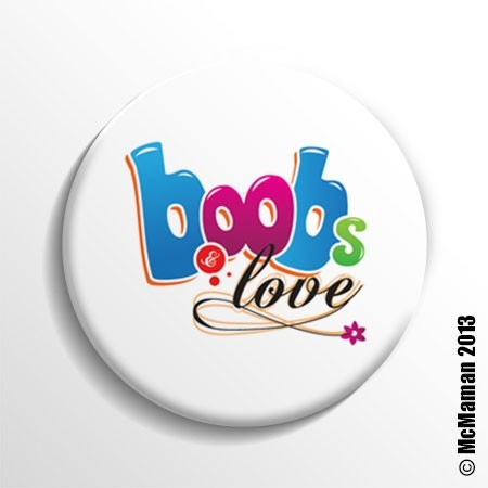 Badge d'allaitement Boobs & Love McMaman