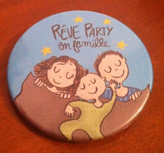 "Badge ""R�ve party en famille"" McMaman"