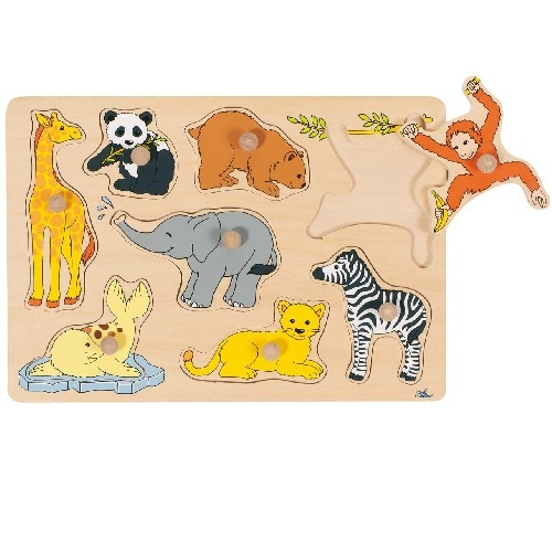 Puzzle � boutons Animaux sauvages GOKI 8 �l�ments