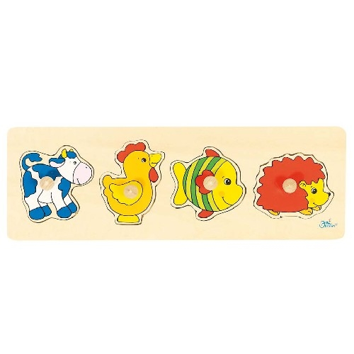 Puzzle � boutons Animaux fun GOKI 4 �l�ments