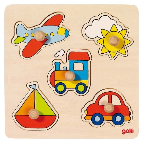 Puzzle � boutons Transports GOKI 5 �l�ments