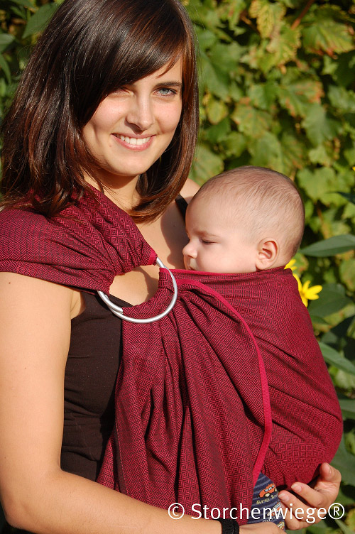 Ring Sling LEO BORDEAUX STORCHENWIEGE