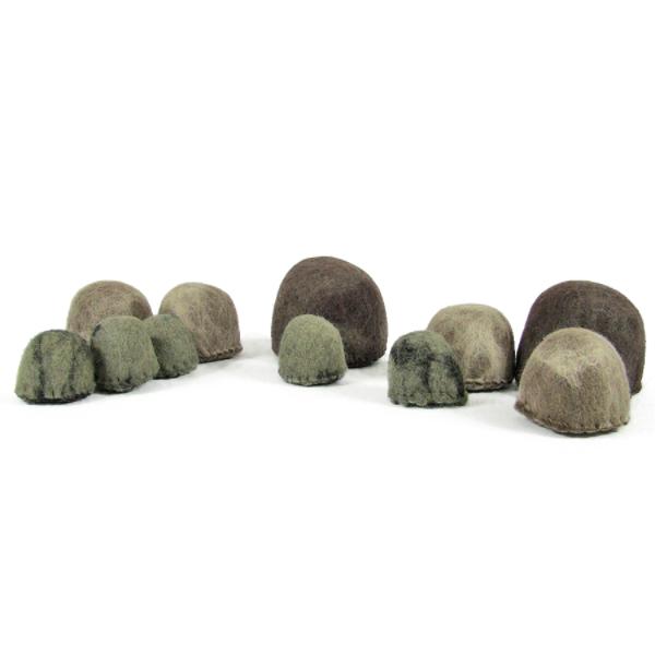 Monde des Dinosaures en laine feutrée - 10 Rochers