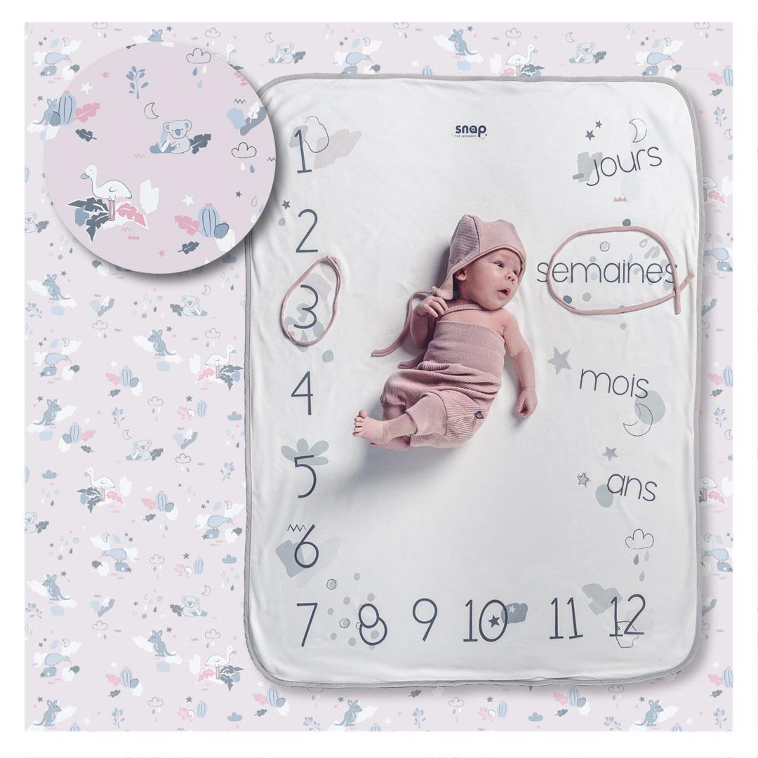 Couverture étape bébé 100% coton Savana