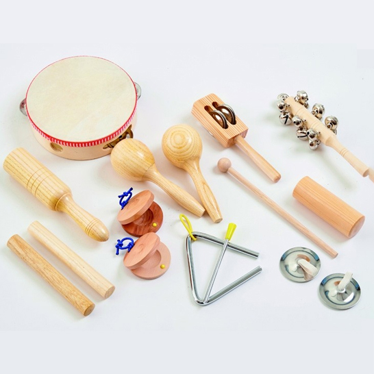 Set de 10 instruments de percussion