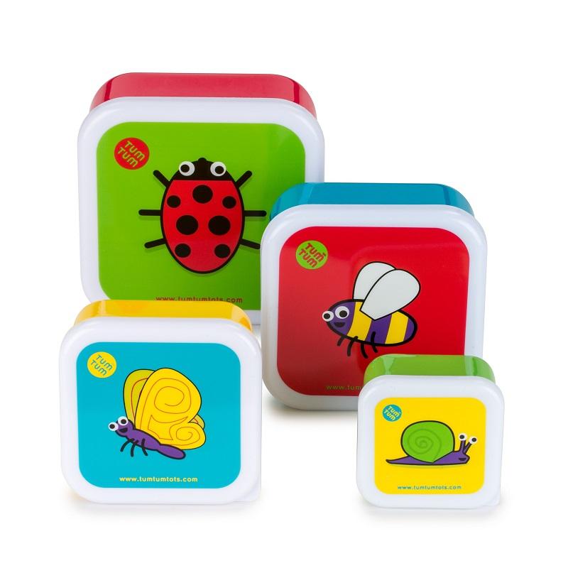 Lot de 4 Boites gigognes Ladybird