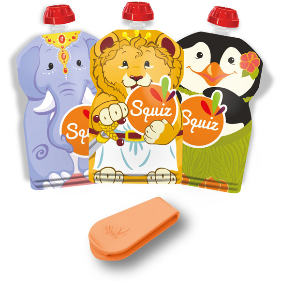 Lot de 3 Gourdes souples SQUIZ Carnaval