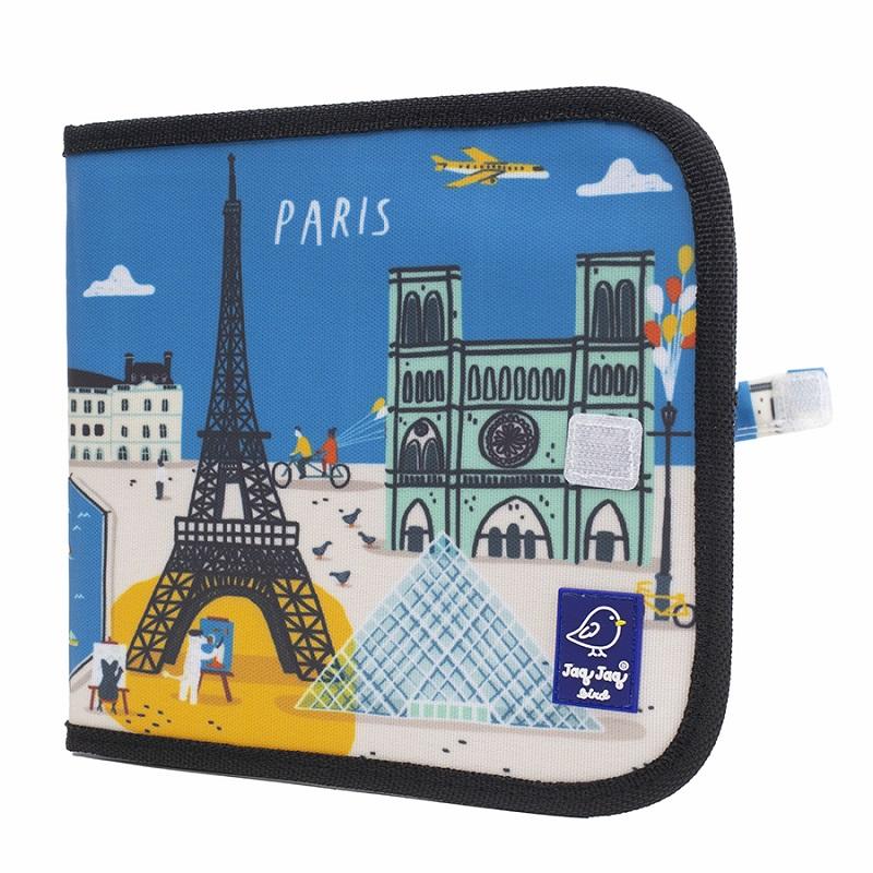 Cahier ardoise illustré CITY PARIS + 4 craies Zéro poussière