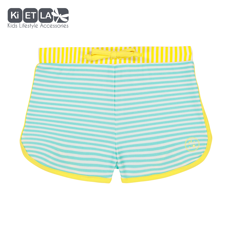 Short anti-Uv Stripe Green 18 mois Green KI&LA