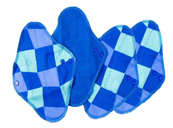 Lot de 4 Serviettes hygiéniques lavables Mini - Water Jump