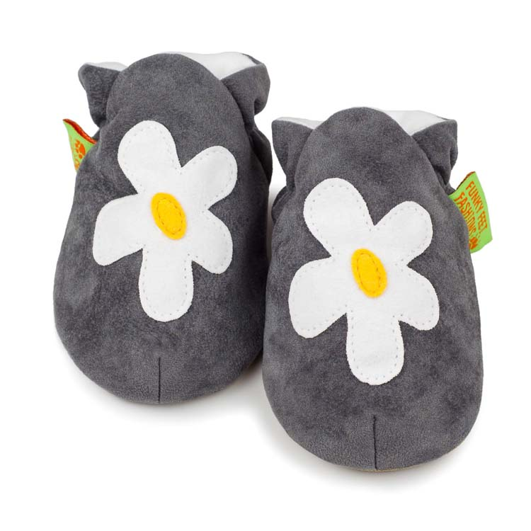 Chaussons souples Grey Flower FUNKY FEET