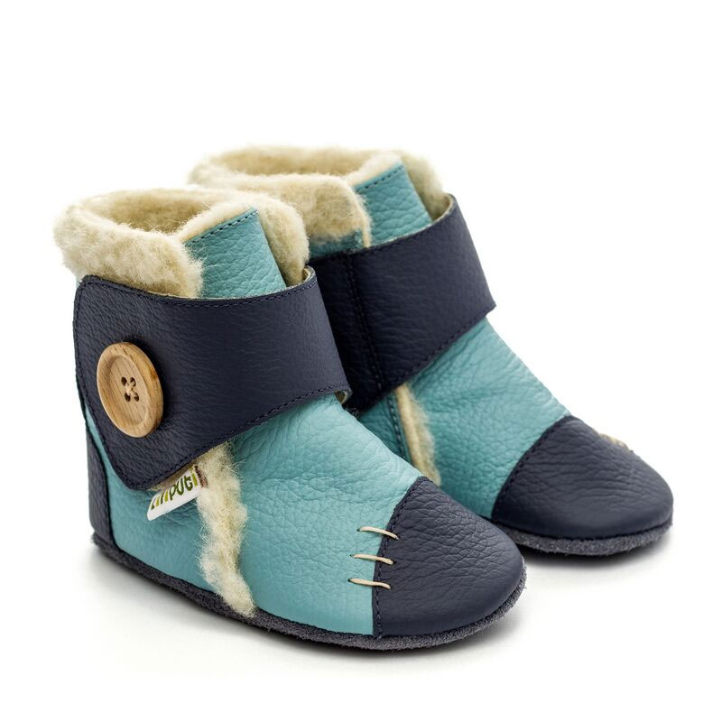 Bottines fourrées en cuir souple Liliputi SNOWFLAKE North Sea