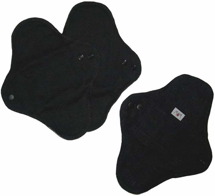 Lot de 3 Serviettes hygiéniques lavables Regular MAM ECOFIT - Black Panther