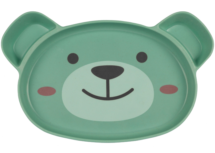 Assiette compartiment ventouse Ourson en Bambou TUM TUM