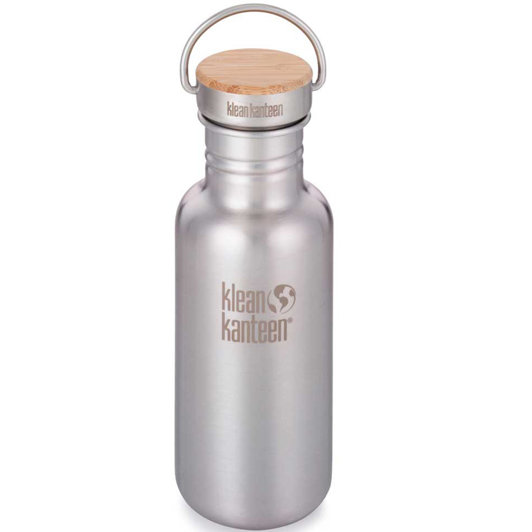 Gourde Inox Reflect 532 ml Brushed Stainless bouchon inox et bambou