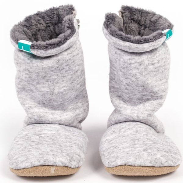 Bottines souples bébé Grey
