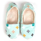 Chaussons souples maman Titot Swiss Cross Mint