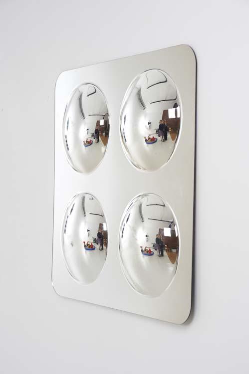 Large miroir acrylique convexe x4 49cm tickit maman for Miroir acrylique